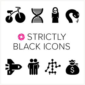 Pickit royalty free image collection Strictly Black Icons